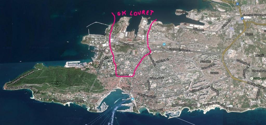 karta GK Lovret